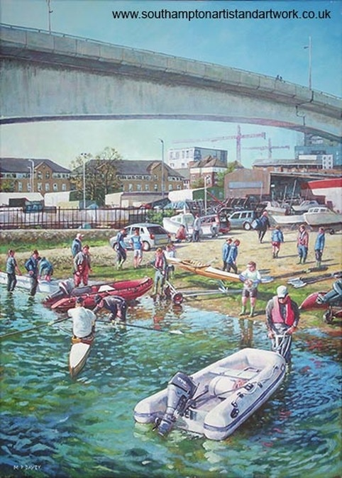 southampton_river Itchen Rowing club painting