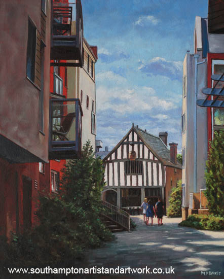 southampton_medieval_merchant_house_from_high_st painting