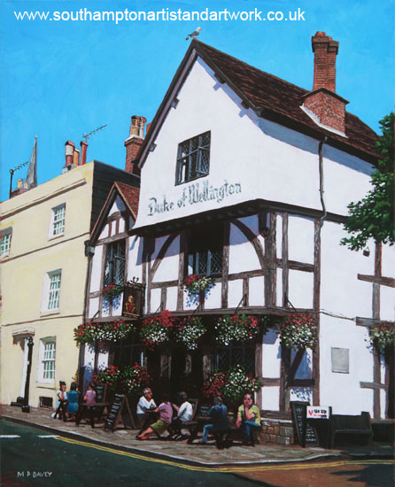 southampton_duke_of_wellington_pub painting