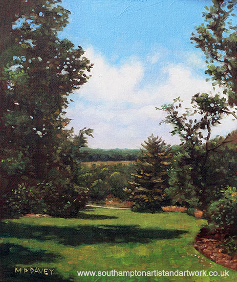 southampton_hillier_gardens_grass_and_trees oil painting