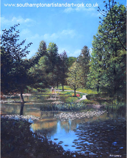 southampton_hillier_gardens_late_summer oil painting