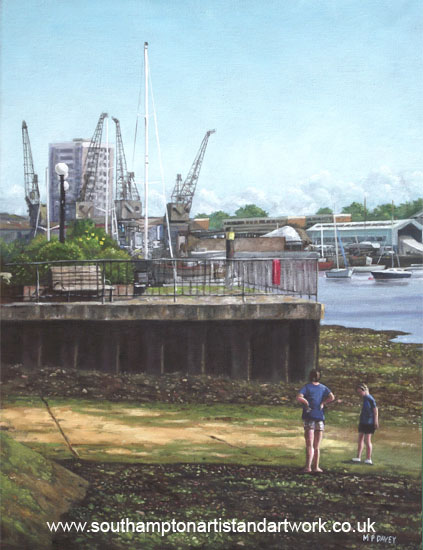 southampton_itchen_river_slipway painting