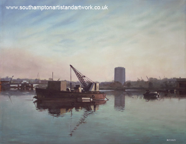 southampton_northam_river_itchen oil painting