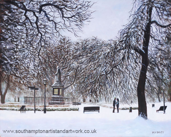 southampton_watts_park_in_the_snow oil painting